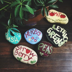 Add some Colour to your Garden with Painted Stones (image credit - evermine.com httpwww.evermine.comblogdiy-painted-garden-rocks