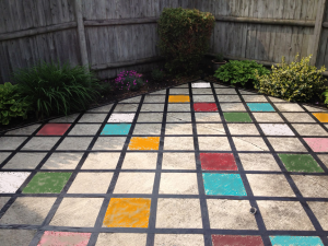 Get creative with Painted Patio Tiles