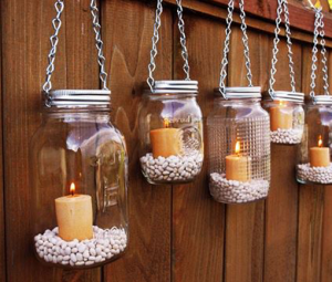Use your old Jars to create rustic Garden Candles