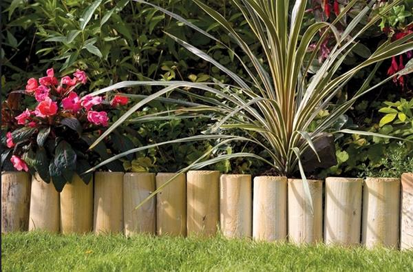 Log Edgings Are A Simple Yet, Effective Way To Line Your Garden Borders.  Natural Logs Will Blend Seamlessly Into Most Gardens Decors And Showcase  Your ...