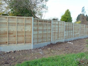 Brand New Fence Panels with Concrete Gravel Boards