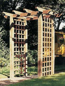 A Pergola Arch is the New Walled Garden