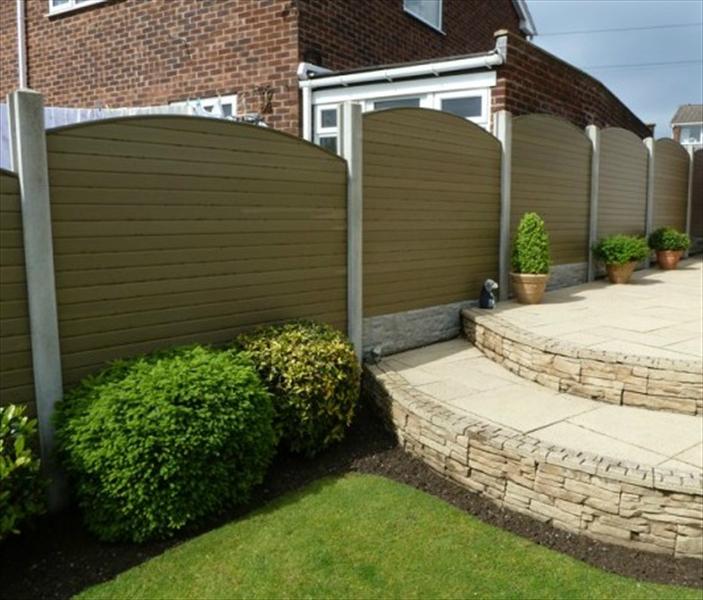 composite fence panels a contemporary addition edecks blog. Black Bedroom Furniture Sets. Home Design Ideas