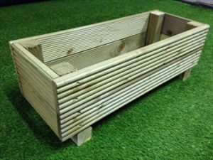 small treated planter