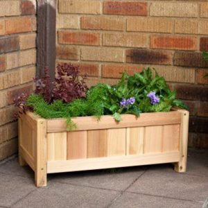 wooden garden planter box