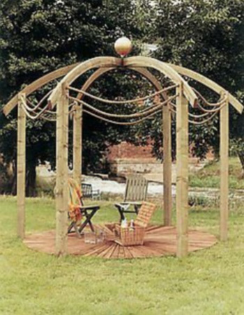 Jac Flower Domed Pergola (With Base)