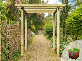Heavy Duty Royal Walkway Pergola (2.4m x 2.4m)