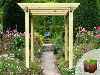 Heavy Duty Royal Walkway Pergola With Super Rafters (2.4m x 2.4m)