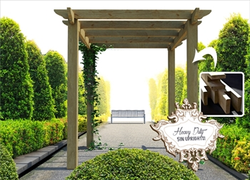 Heavy Duty Royal Walkway Pergola Extra Wide (2.4m x 4.8m)
