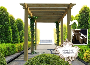 Heavy Duty Royal Walkway Pergola Extra Wide (2.4m x 7.2m)