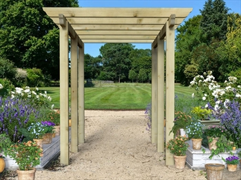 Heavy Duty Royal Walkway Pergola Extra Wide With Super Rafters (4.8m x 3.6m)