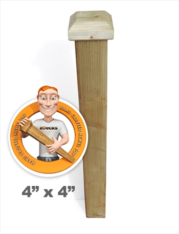 2100mm Handmade Fine Quality Newel Post (92mm Newel with 5 x 5 Flat Shaped Top)