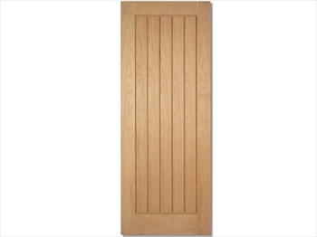 Unfinished Mexicano Oak Door (Metric)