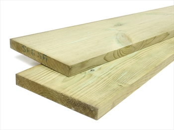 Treated Planed Square Edge Timber (150mm x 25mm)