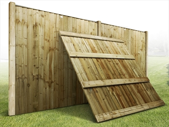 Heavy Duty Vertilap Featheredge Fence Panel (7ft x 6ft)
