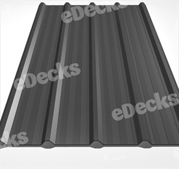 Anti Condensation Plastisol Coated Merlin Grey Box Profile Steel Sheets (10ft - 3050mm)