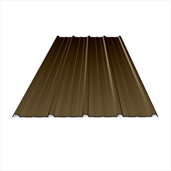 Anti Condensation Plastisol Coated Vandyke Brown Box Profile Steel Sheets (6ft - 1828mm)