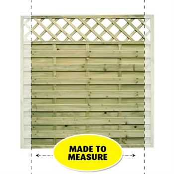 Horizontal Lattice Top Fence Panel (Made To Measure)