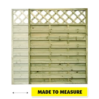 Horizontal Lattice Top Fence Start / End Panel (Made To Measure)