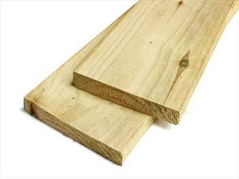 "Rough Sawn Treated Timber (8"" x 1"") *Exact Cut*"