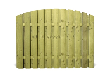 "Green - Arched Heavy Duty Tudor DOUBLE Panel (6' x 6' 6"")"