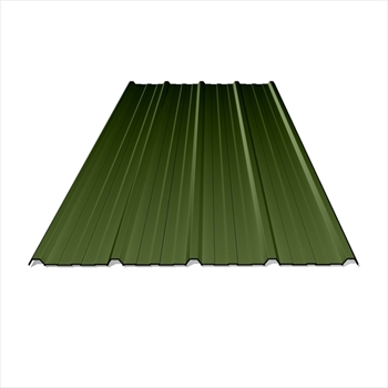 Anti Condensation Plastisol Coated Olive Green Box Profile Steel Sheets (16ft - 4877mm)