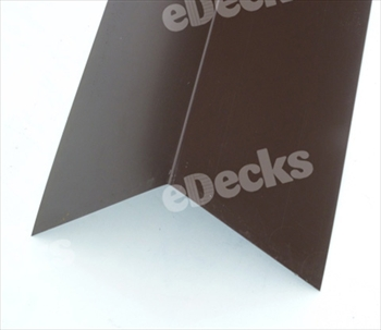 Plastisol Coated Angled Ridge 3m Vandyke Brown (200mm x 200mm)
