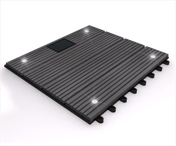 eDecks Composite Deck Tile With LED's (Grey)
