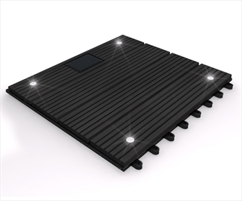 eDecks Composite Deck Tile With LED's (Ebony)