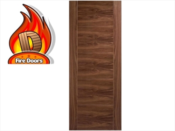 Vancouver 5 Panel Walnut Fire Door (Imperial)