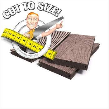 * Cut to size * Redwood Bark Effect Solid Composite Decking (146mm x 21mm)