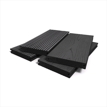 Ebony Bark Effect Solid Composite Decking (146mm x 21mm - 2.4m)