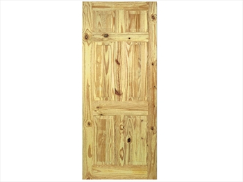 Pine 6 Panel Knotty Door (Metric)