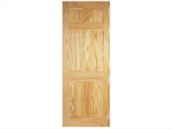 Pine 6 Panel Clear Door (Metric)