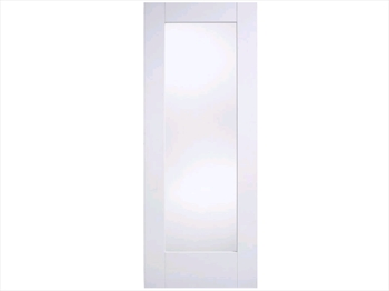Solid White Shaker Glazed Door (Imperial)