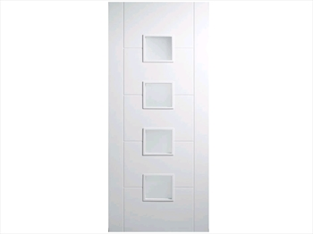 White Semi Solid Florida RM2S Door (Imperial)