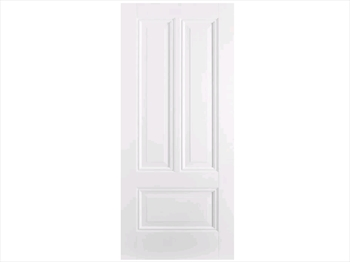 Solid White Peony 3 Panel Door (Imperial)