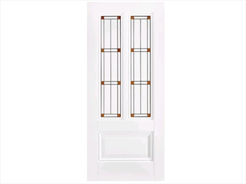 Solid White Peony Leaded Door (Imperial)