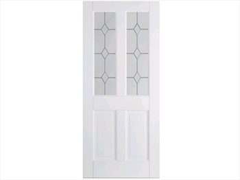 Solid White Canterbury 2 Panel / 2L Door (Imperial)