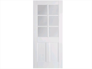 Solid White Canterbury 2 Panel / 6L Door (Imperial)
