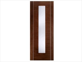 Alcaraz Glazed Walnut Flush Door (Metric)