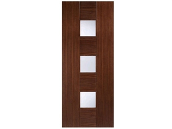 Catalonia Glazed Walnut Flush Door (Metric)