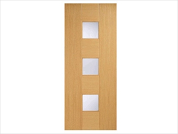Catalonia Glazed Oak Flush Door (Metric)