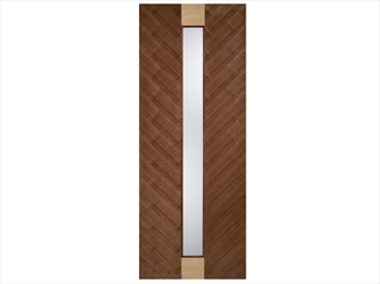 Cava Glazed Walnut With Oak Insert Flush Door (Imperial)