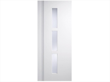 Sierro Glazed Blanco White Flush Door (Imperial)