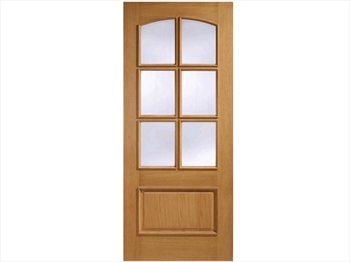 Menorca Glazed 1 Panel / 6L Oak Door (Imperial)