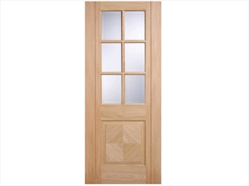 Barcelona Glazed Oak Door (Metric)