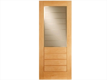 Salvador 1L / 4 Panel Oak Door (Imperial)