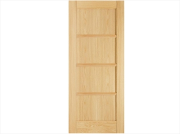 Oslo 4 Panel Oak Door (Imperial)