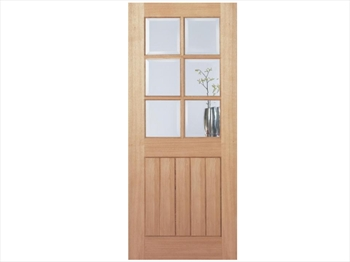 Pre-Finished Mexicano 6L Oak Door (Metric)
